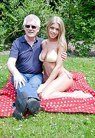 Old dick is inside a perfect bikini blond